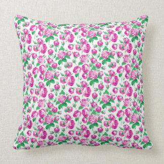 Chic Victorian  floral cotton pillow