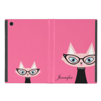 Chic Vintage Cat iPad Mini Powis Case - Pink Cover For iPad Mini