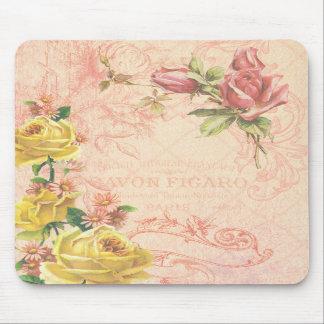 Chic Vintage Floral Mousepad