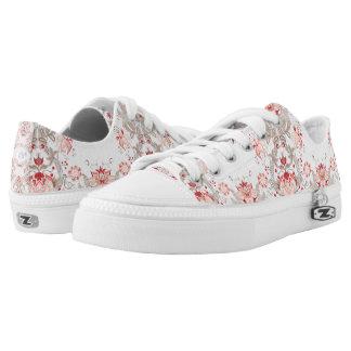 Chic Vintage Floral Pattern damask Monogram Shoes
