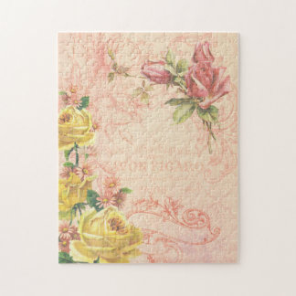 Chic Vintage Floral Puzzle