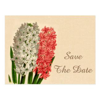 Chic Vintage Hyacinths 16th Birthday Save The Date Postcard