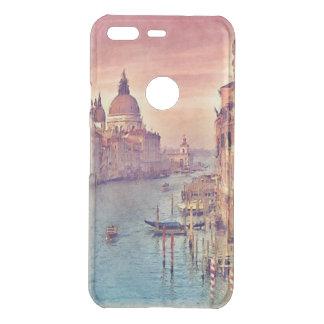 Chic Vintage Italy Venice Canal Pastel Watercolor Uncommon Google Pixel Case