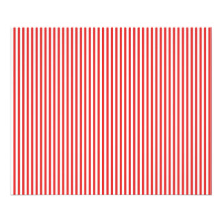 Chic Vintage Red White Stripes Pattern Photographic Print