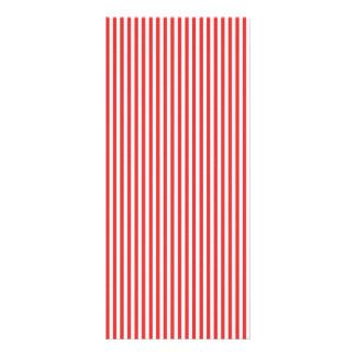 Chic Vintage Red White Stripes Pattern Rack Card Design