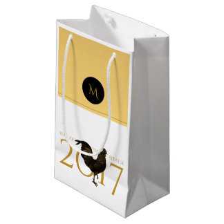 Chic Vintage Rooster Chinese New Year 2017 Gift B1 Small Gift Bag