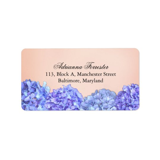 Chic Violet Hydrangeas Pink Label