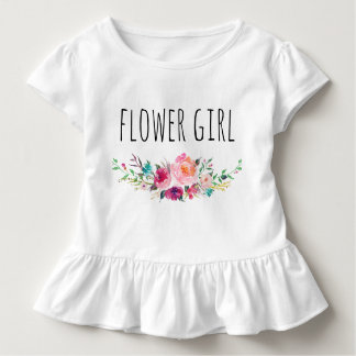 Chic Watercolor Floral/Flower Girl-5 Toddler T-Shirt