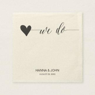 chic wedding paper napkins   calligraphy serviette