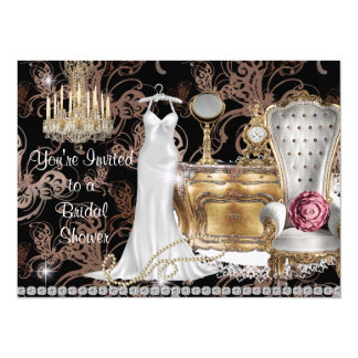 Chic Whimsical  BRIDAL SHOWER INVITATION