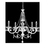 Chic White and Black Chandelier