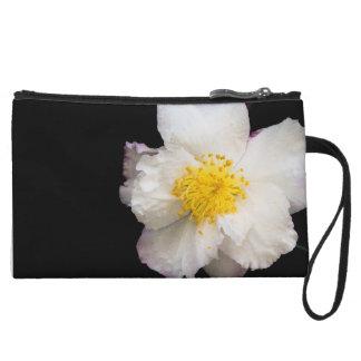 Chic White Camellia Floral Custom Mini Clutch