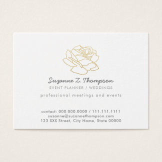 chic white event planner (weddings)  professional business card