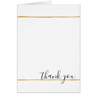Chic White Gold Stripes Card