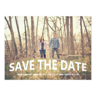 Chic White Photo Save The Date Announcements