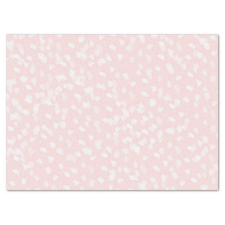 Chic White Pink Spots Tissue Paper