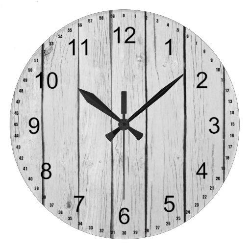 Chic White Rustic Wood Wall Clocks