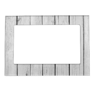Chic White Rustic Wood Magnetic Picture Frame