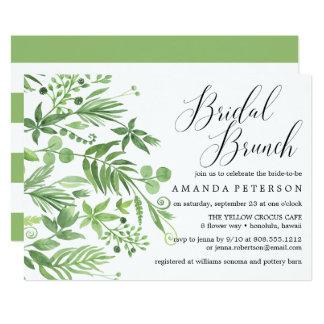 Chic wild meadow watercolo wedding Bridal Brunch Card