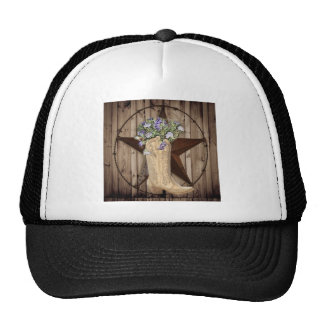 Chic Wildflower Texas Star Western country cowgirl Cap