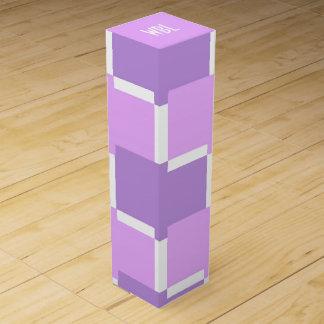 CHIC WINE GIFT BOX_LILAC/PURPLE/WHITE WINE BOX