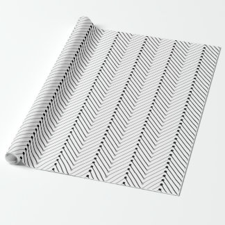 CHIC WRAPPING PAPER_BLACK/GREY CHEVRON WRAPPING PAPER