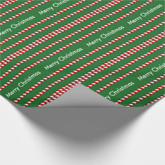 CHIC WRAPPING PAPER-CANDY CANE RED/WHITE STRIPES WRAPPING PAPER