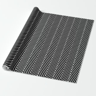 CHIC WRAPPING PAPER_WHITE GEOMETRIC ZIGZAG  DIY WRAPPING PAPER