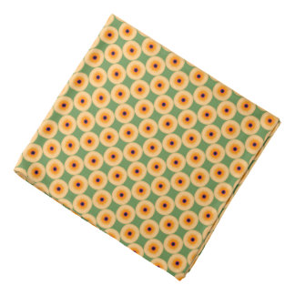 Chic Yellow Green Polka Dot Bandana