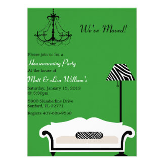 Chic Zebra Housewarming invitation