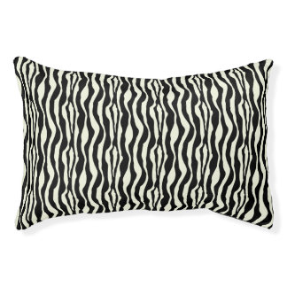 Chic Zebra Print Pattern Pet Bed