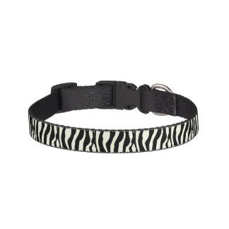 Chic Zebra Print Pet Collar
