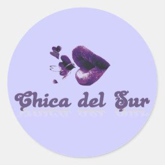 Chica del Sur Classic Round Sticker