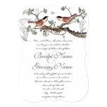 Chicadee Vintage Birds Wedding Invite