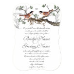 Chicadee Vintage Birds Wedding Invite 13 Cm X 18 Cm Invitation Card