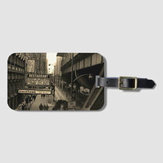 Chicago 1960's Blackhawk Restaurant Sign Street Luggage Tag