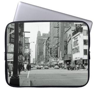 Chicago 1960's Randolph Street Oriental Theater Laptop Sleeve