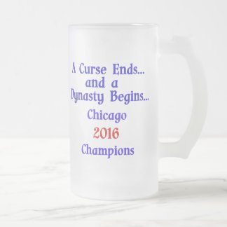 Chicago 2016 Champs Frosted Beer Mug