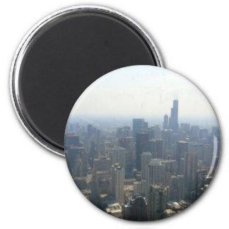 Chicago (2) 6 cm round magnet