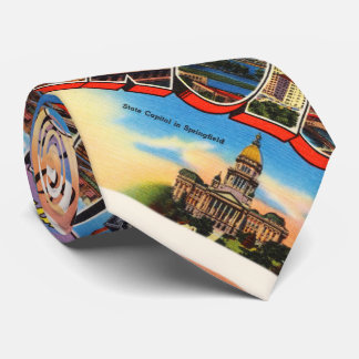 Chicago #2 Illinois IL Old Vintage Travel Souvenir Tie