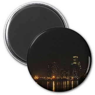 Chicago (3) 6 cm round magnet