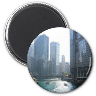 Chicago (4) 6 cm round magnet