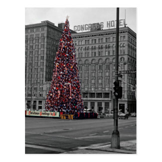 Chicago 60's Colorsplash Christmas Congress Hotel Postcard