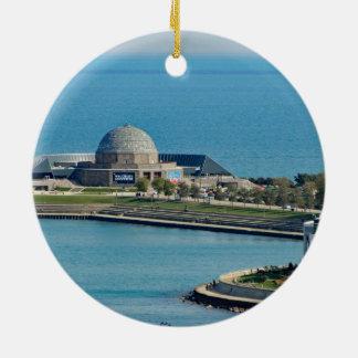 Chicago Adler Planetarium Ceramic Ornament