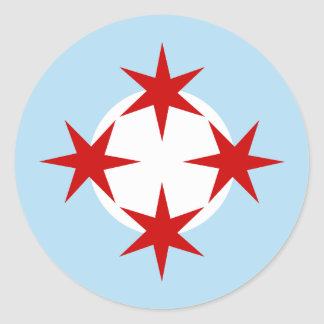 Chicago Air Force (Bomb Wing) Roundel Round Sticker