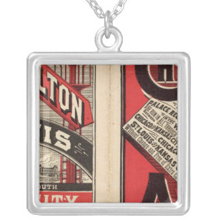 Chicago and Alton Railroad Silver Plated Necklace
