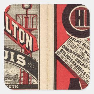 Chicago and Alton Railroad Square Sticker