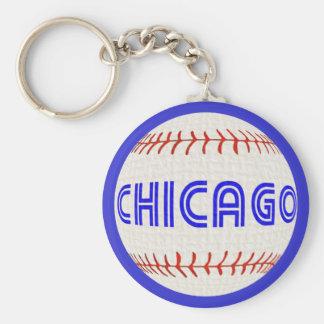 Chicago baseball keychain
