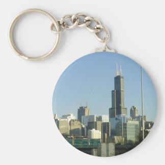 Chicago Basic Round Button Key Ring