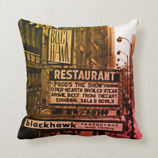 Chicago Blackhawk restaurant 1960's Photo Original Cushion